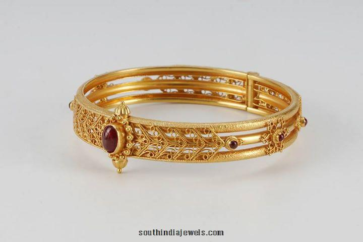 22k gold bangle with ruby