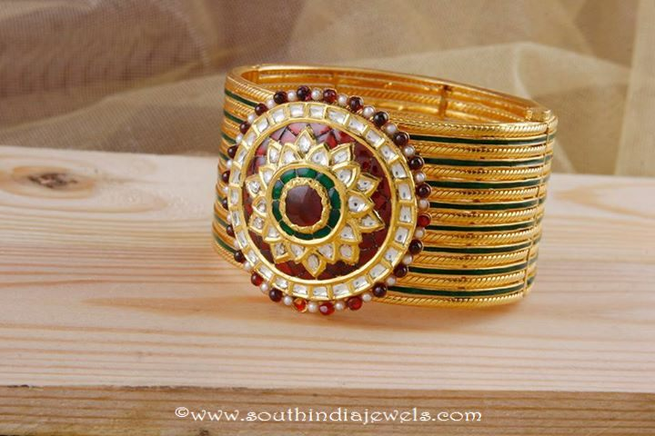 Gold Designer Bracelet from Manubhai Jewelllers