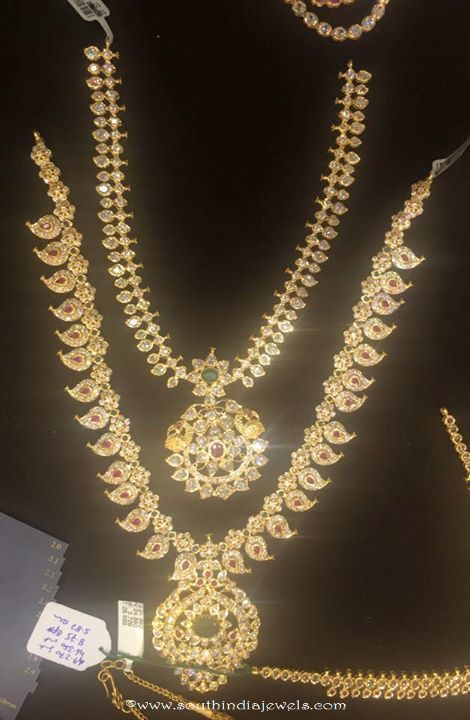22k gold bridal jewellery necklace set from Premraj Shantilal Jain ...