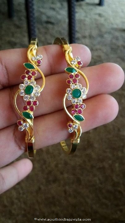 and lac golden stone big green bangles jaipuri productdetails work wth