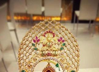 Gold Lakshmi Vanki Design