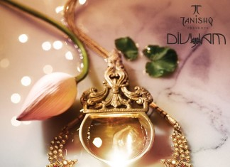 Gold temple jewellery necklace designs from Tanishq Divyam Collections