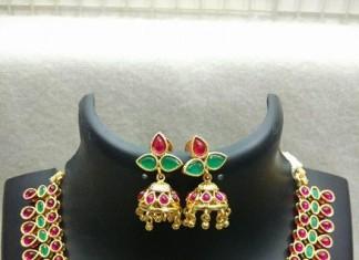 Kemp Necklace woth Matching Jhumka