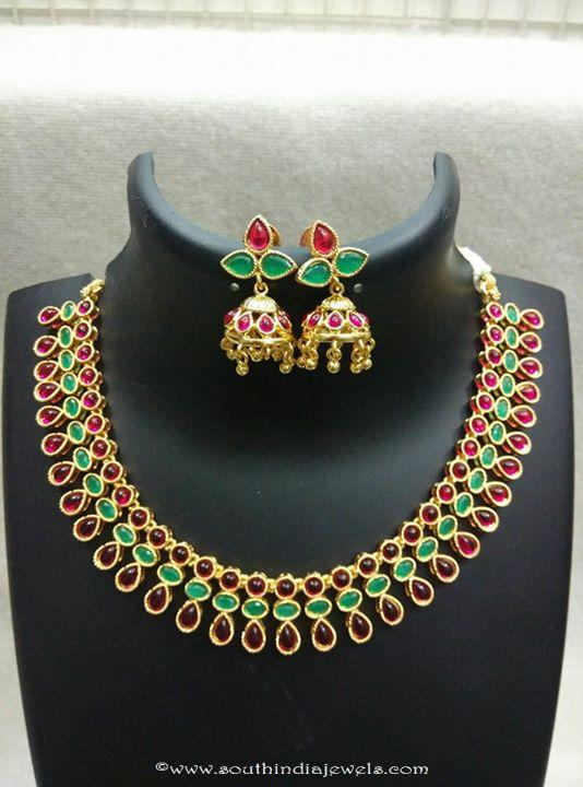 Kemp Necklace woth Matching Jhumka