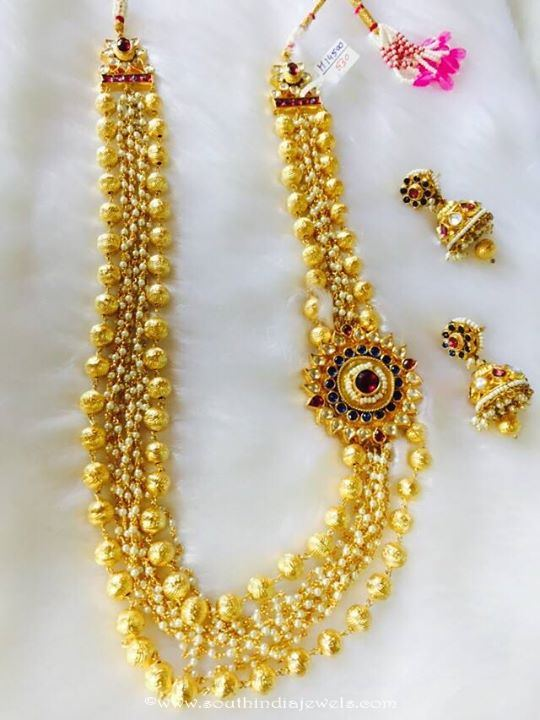 Imitation Kundan Long Necklace Set