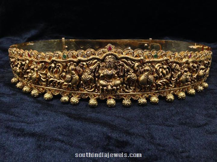 Nakshi work gold antique vadanam