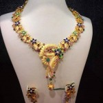 Beautiful Gold Floral Necklace