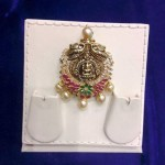 Gold Antique Nakshi Work Lakshmi Pendant