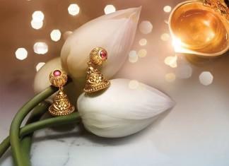 Gold Jhumka Designs From Tanishq