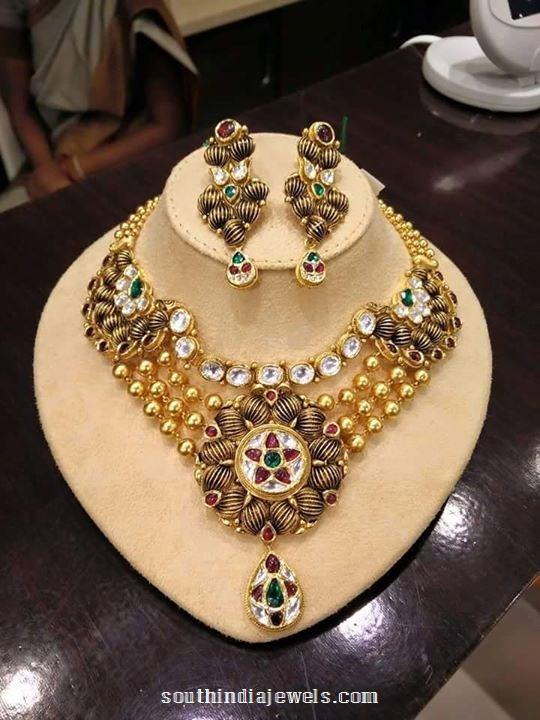 Gold Multillayer Kundan Necklace