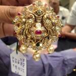 Gold Nakshi Work Pendant Design