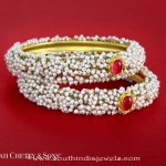Gold Pearl Bangle Design
