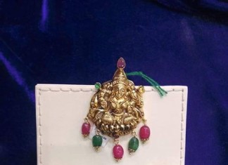 Gold Lakshmi Pendant for short chains