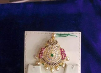 Gold Stone Pendant for Chains