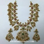 Gold Antique Stone Necklace Design