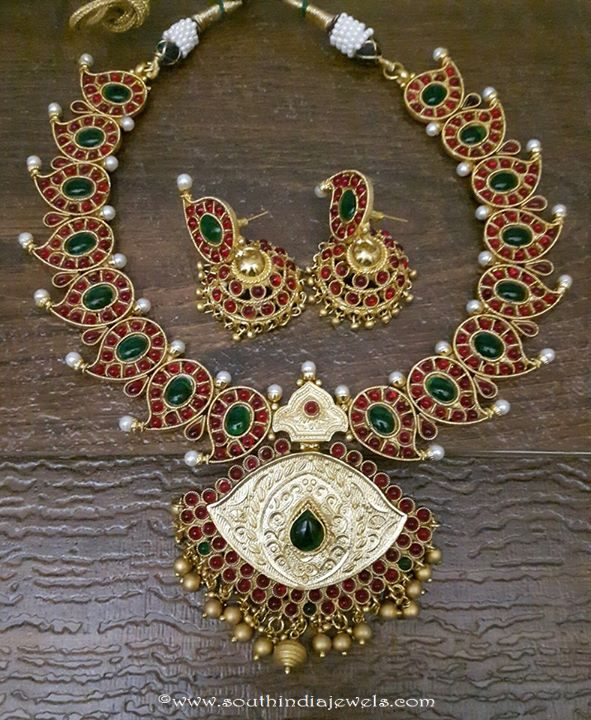 Kemp Mango Mala with Jhumka