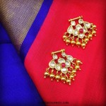 22K Gold Uncut Bali Earrings