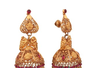 22k Gold Antique Jhumka Design from Malabar Gold & Diamonds
