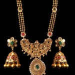 Temple Jewellery Haram with Matching Jhumka