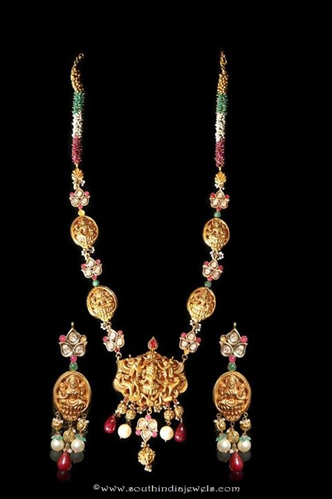 22k gold temple jewellery necklace set with earrings
