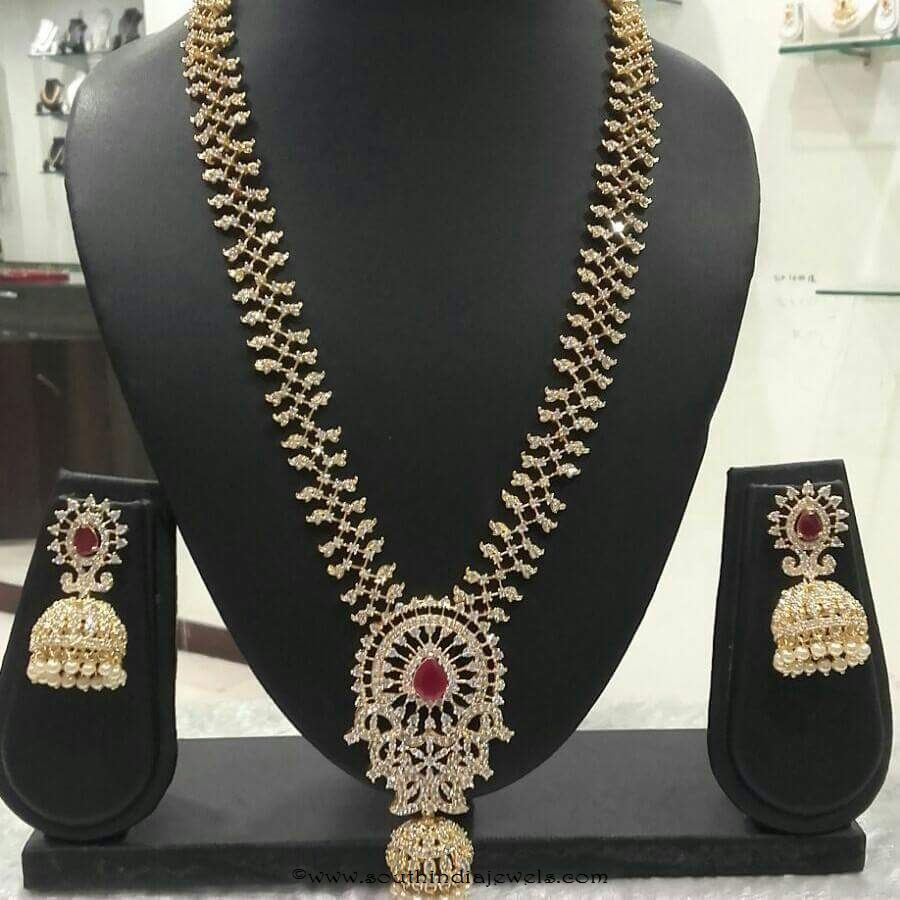 AD Stone Haram with matching jhumka