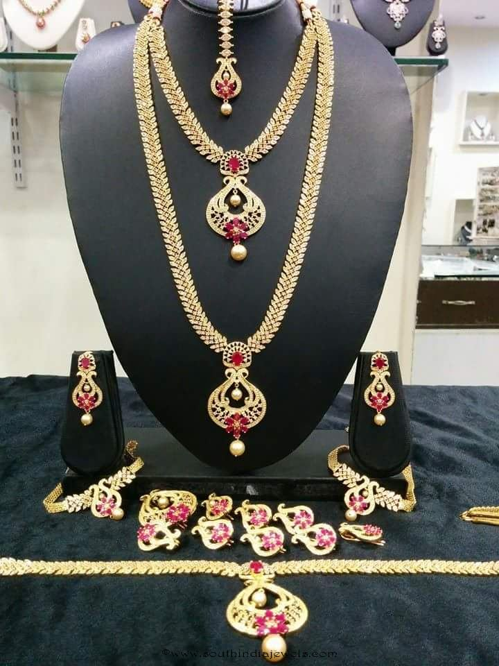 Indian Bridal Ruby Jewellery Sets