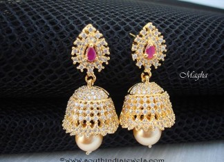 CZ Stone Jhumka Design with Price