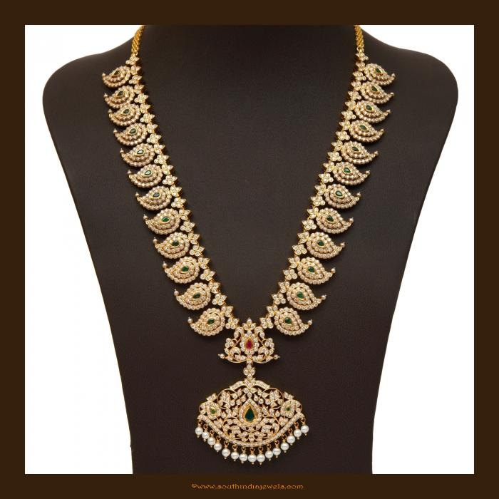 Diamond mango mala necklace from Vummudi Bangaru Jewellers