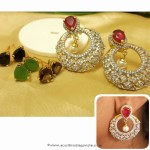 Fancy Imitation Earrings with Interchangeable Stones