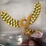 Fancy Gold Short Peacock Necklace Design