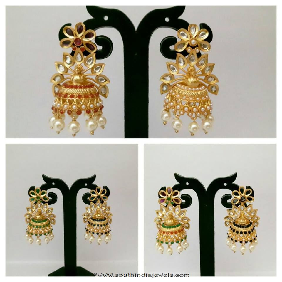 fancy jhumka designs with price south india jewels