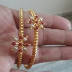 Gold Coral Bangle Design