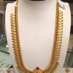 Gold Temple Long Kasumalai Necklace