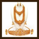 Gold Antique Bridal Jewellery Set from VBJ
