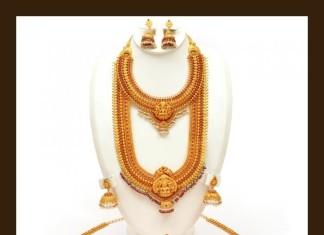Gold Antique Bridal Jewellery Set from VBJ