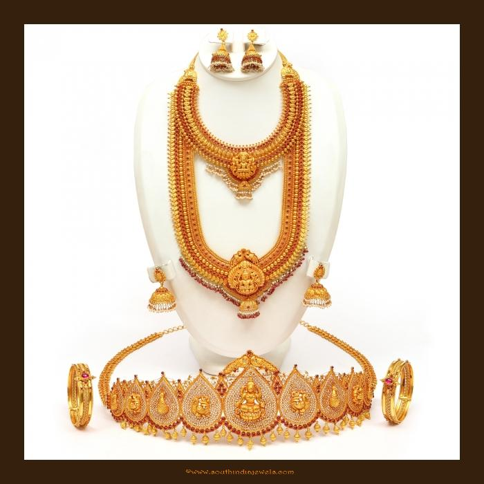 Gold Antique Bridal Jewellery Set From Vbj South India
