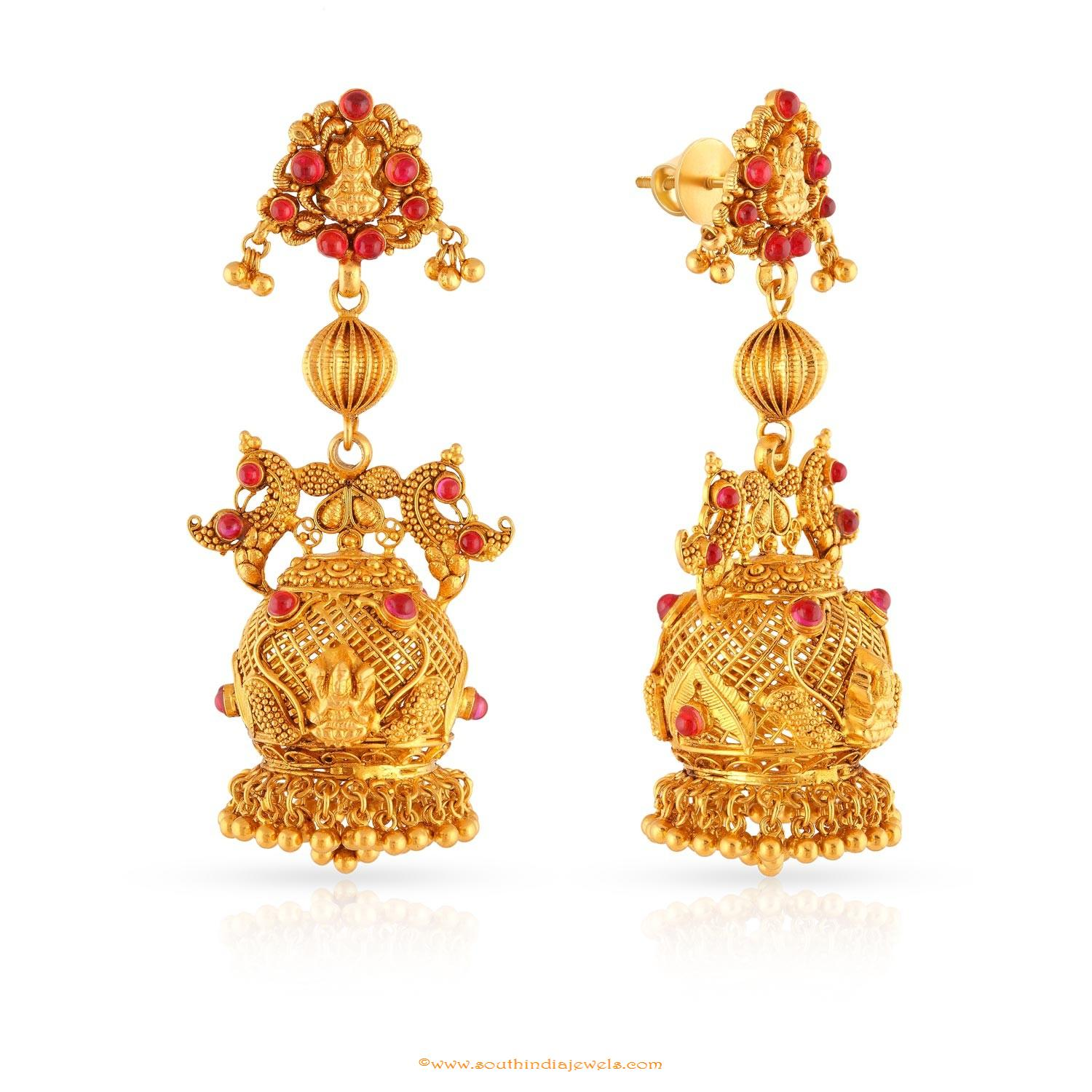earrings set jhumka stones drop gold jewellery with rj choker pearls