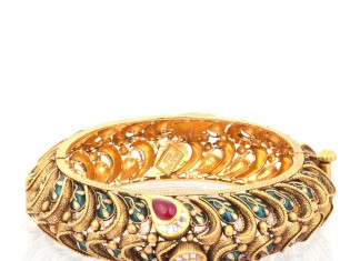 Gold Antique Kada Bangle From Malabar Gold and Diamonds