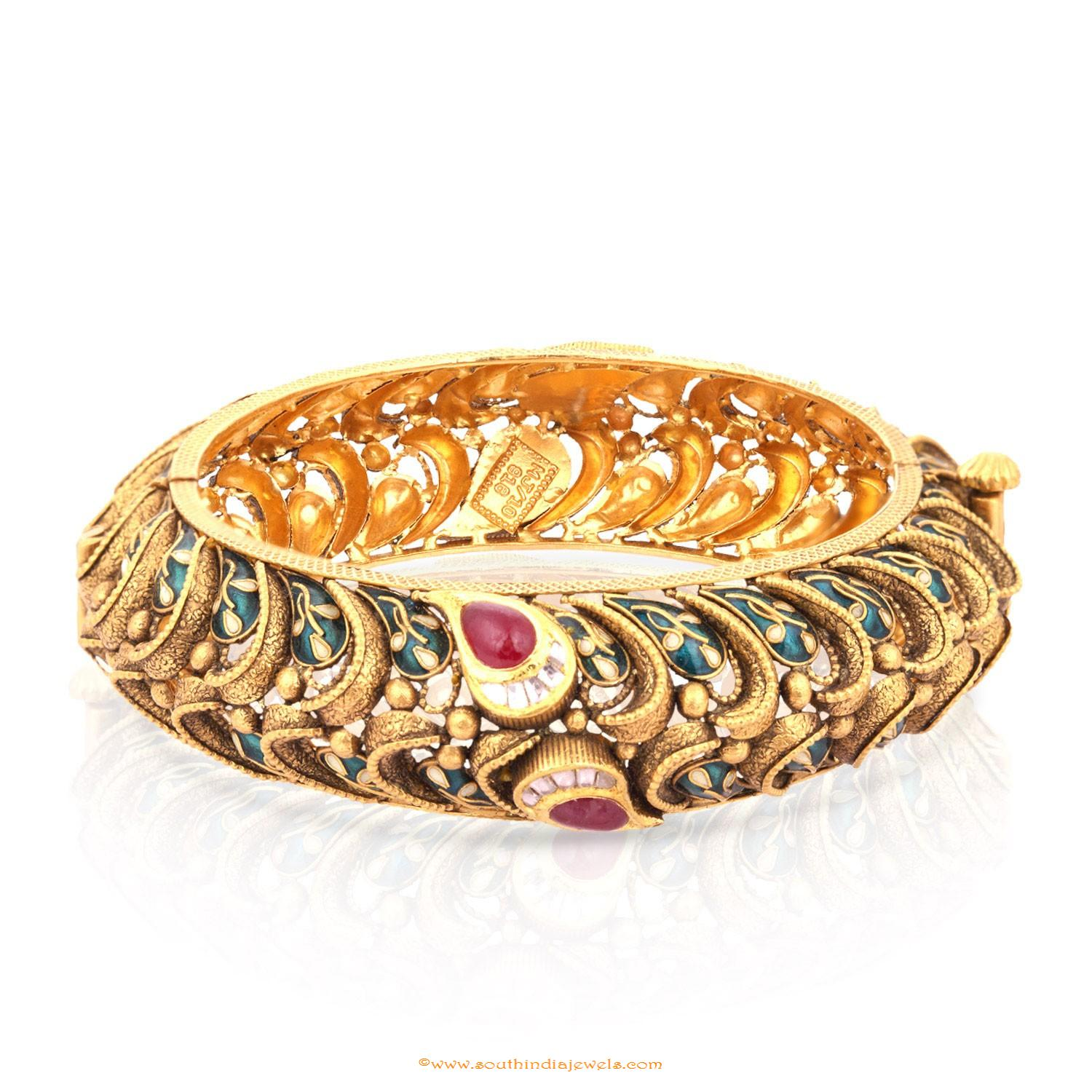 Gold Bangle Design From Malabar Gold & Diamonds ~ South India Jewels