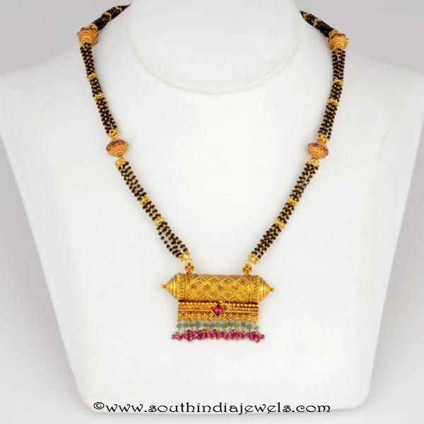 Gold Antique Mangalsutra with weight Details