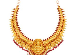 Gold Antique Neklace Design from Laitha Jewellery