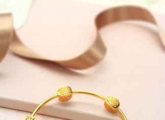 Designer Gold Bangle from Manubhai Jewellers Italian Collection