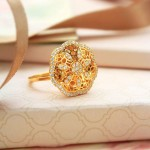 22K Gold Fancy Ring From Manubhai Jewellers