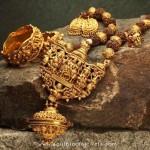 Gold Antique Rudrakshamala Set From Naj