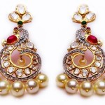 Gold Fancy Stone Earrings From MOR Jewellers