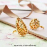 Gold Designer Rings From Manubhai Jewellers