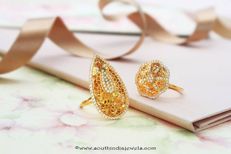 Gold rings from Manubhai Jewellers