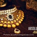 Gold Kundan Choker Necklace From Kalyan Jewellers