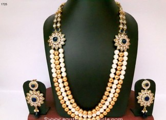 Imitation Pearl Haram with earrings