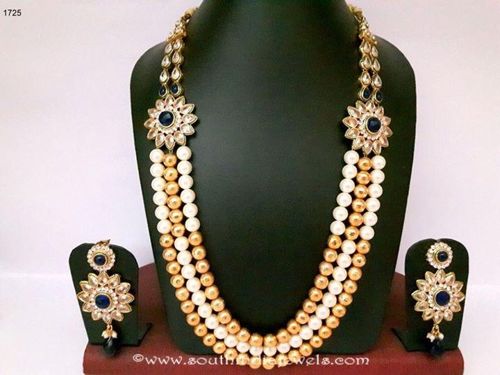 Imitation Pearl Haram with earrings